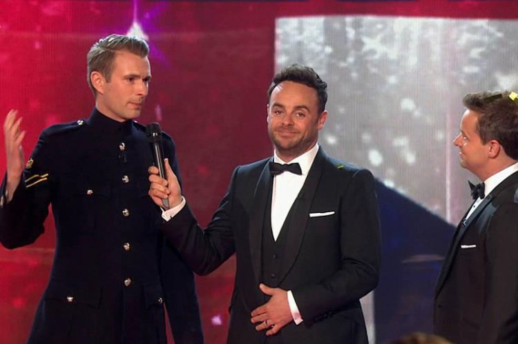 Britain's Got Talent winner Richard Jones with Ant and Dec