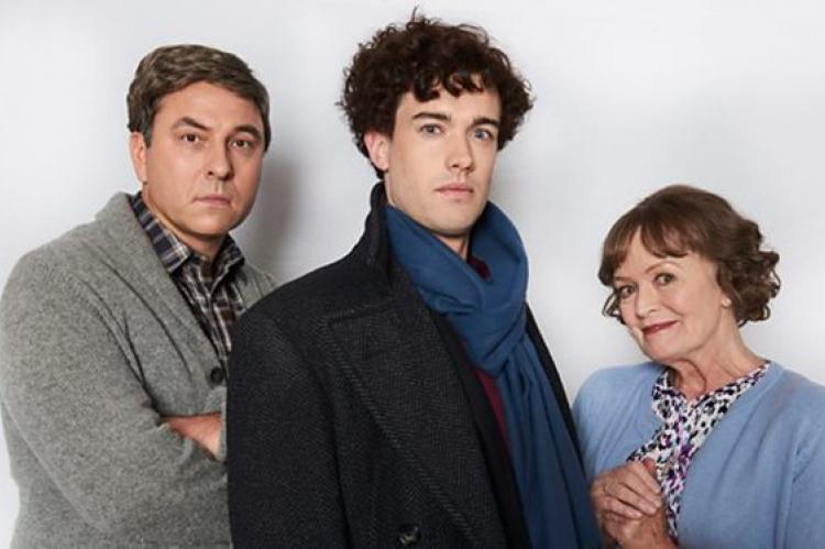 David Walliams and Jack Whitehall spoof Benedict Cumberbatch and Martin Freeman in Sherlock
