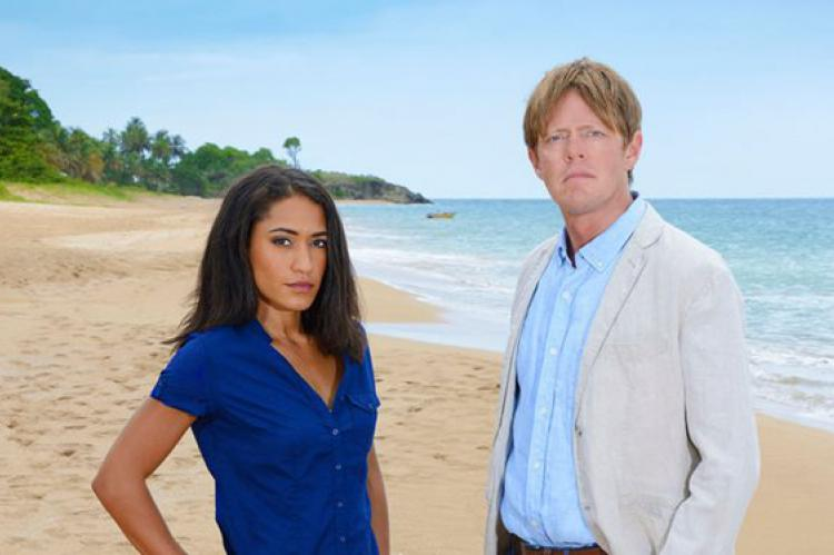 Death in Paradise: Joséphine Jobert as DS Florence Cassel and Kris Marshall as DI Humprey Goodman