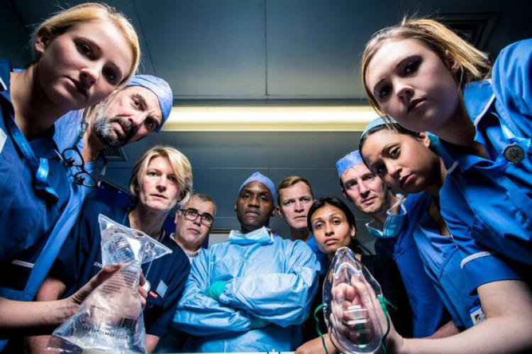 Hospital staff at St Marys