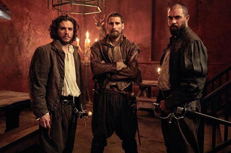 Kit Harington, Edward Holcroft and Tom Cullen in Gunpowder