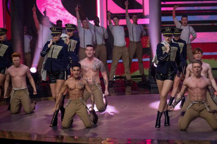 Let It Shine judge Dannii Minogue shows the boys who's boss in raunchy opening dance