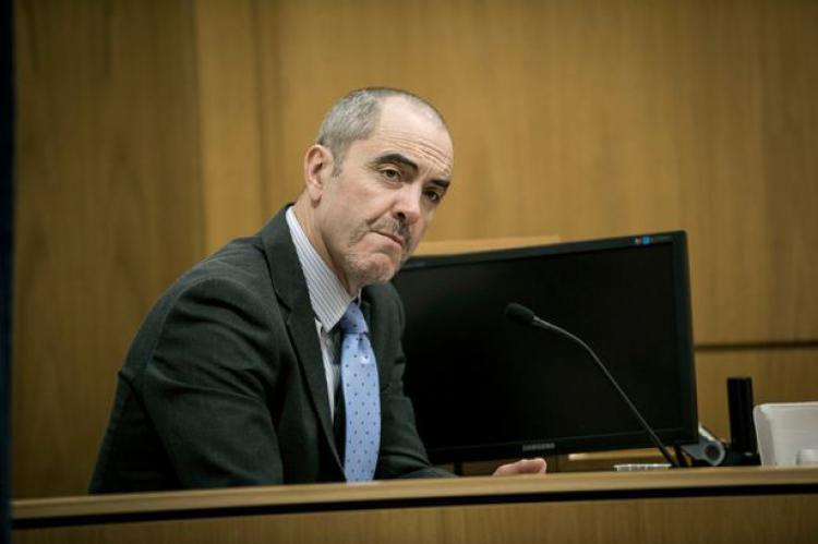 Colin Howell (James Nesbitt) in the dock in The Secret
