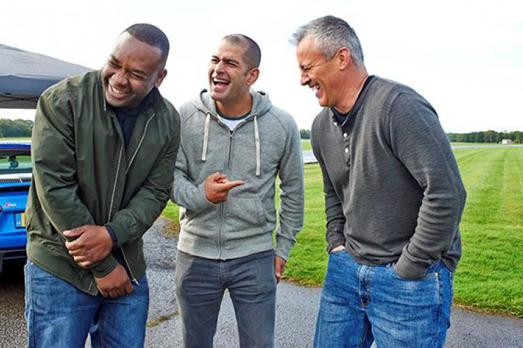 Top Gear presenters Rory Reid, Chris Harris and Matt LeBlanc