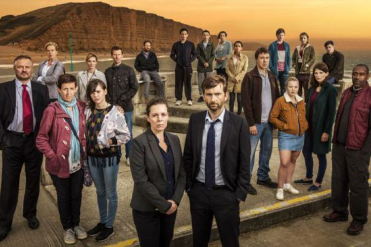 Broadchurch with Olivia Coleman, David Tennant and Julie Hesmondhalgh