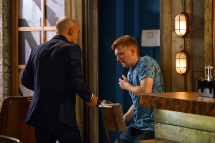 Coronation Street: Chesney is stabbed in the bistro