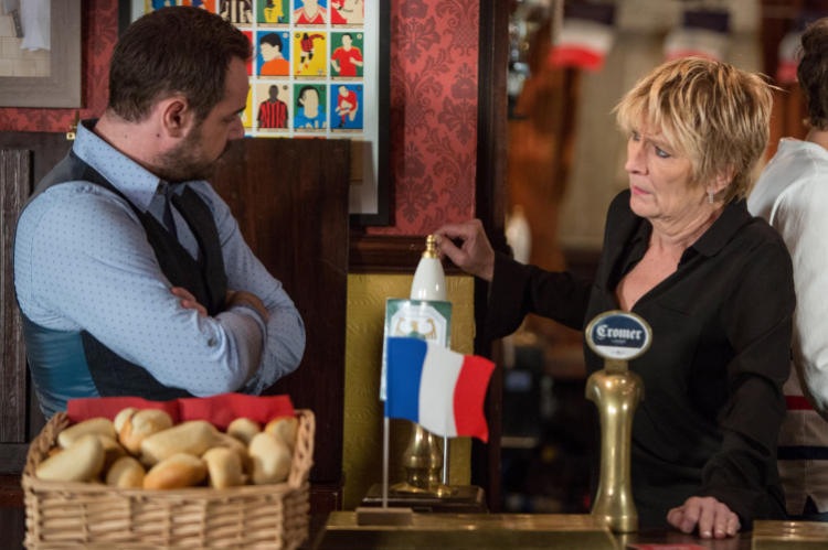 EastEnders' French night...going down a storm