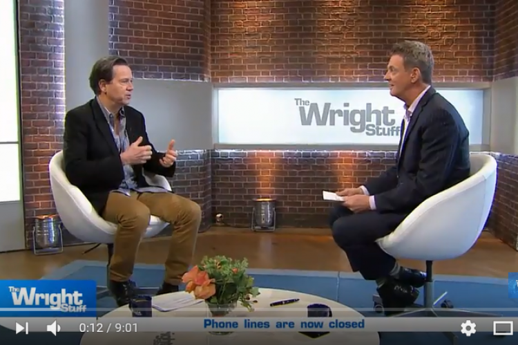 Kevin and Matthew talking telly on The Wright Stuff