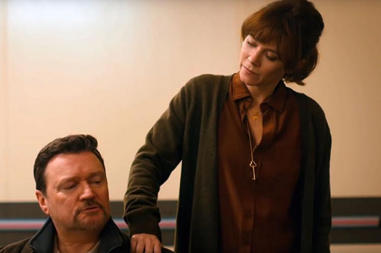 Ian Puleston-Davies and Anna Friel in Marcella