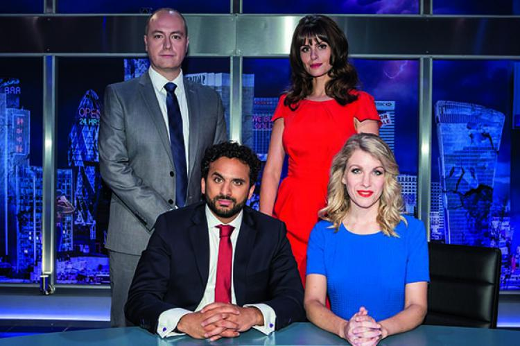 Nish Kumar and the gang