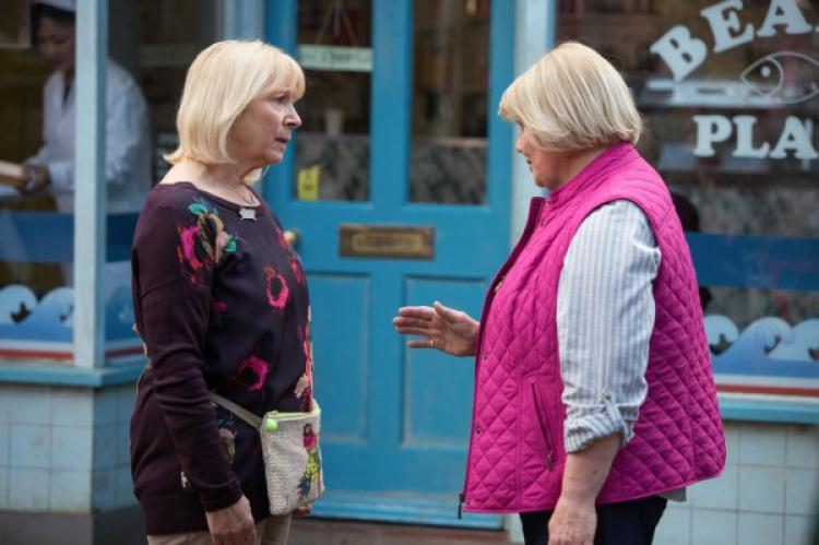 Pam Coker and Aunt Babe in EastEnders