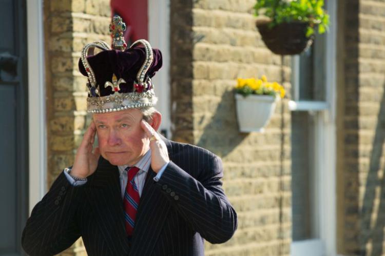 Harry Enfield plays Prince Charles in The Windsors