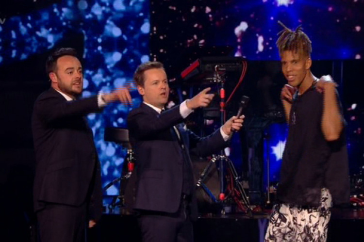 Winner Tokio Myers with Ant & Dec