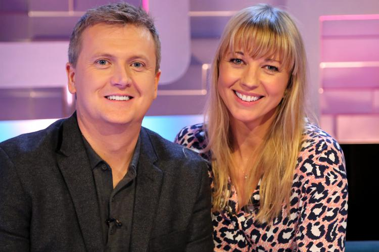 Aled Jones and Sara Cox