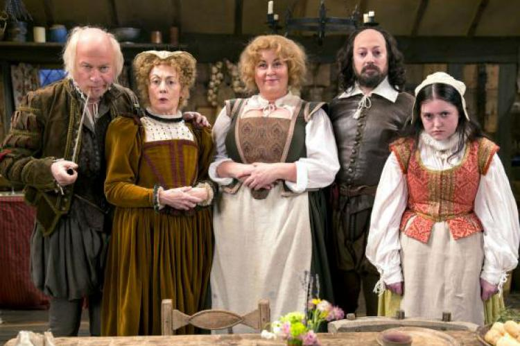 David Mitchell and the cast of Upstart Crow