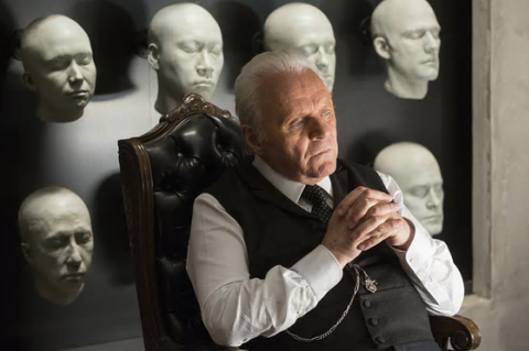 Anthony Hopkins as Dr Ford, the creator of Westworld
