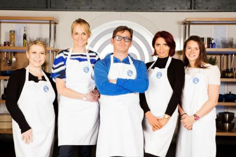 Celebrity MasterChef Tina Malone, Louise Minchin, Sid Owen, Amy Childs and Liz Johnson