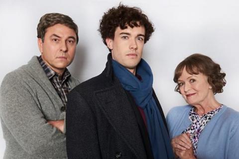 David Walliams and Jack Whitehall spoof Benedict Cumberbatch and Martin Freeman in Sherlock