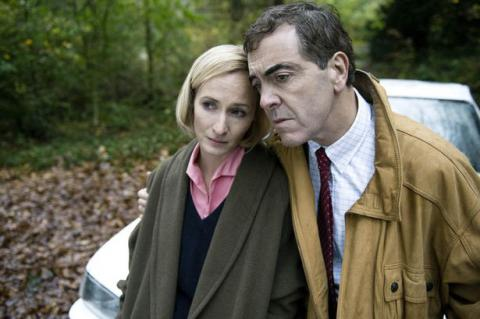 Hazel Buchanan [Genevieve O'Reilly] and Colin Howell [James Nesbitt] in The Secret