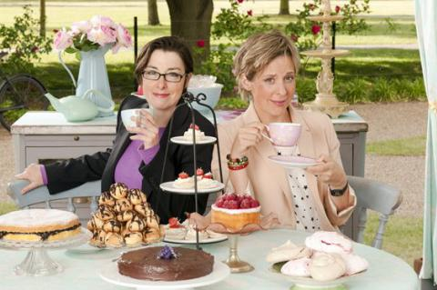 Mel Giedroyc and Sue Perkins in The Great British Bake Off