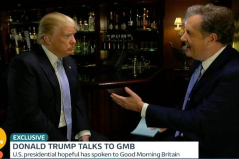 Piers Morgan and Donald Trump on GMB