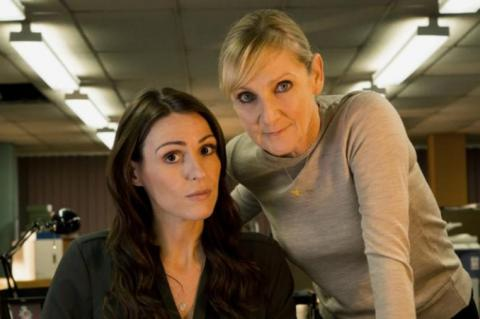 Suranne Jones and Lesley Sharp in Scott and Bailey