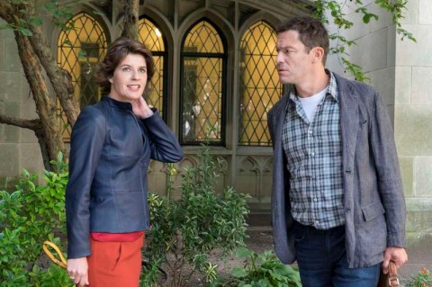 The Affair: Irene Jacob as Juliette Le Gall and Dominic West as Noah Solloway