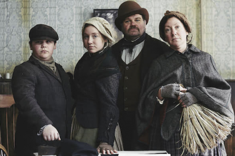 The Howarth family in The Victorian Slum