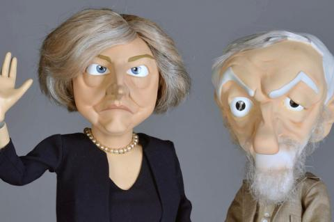 The new Theresa May and Jeremy Corbyn puppets