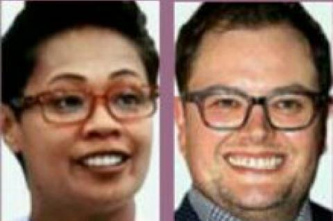 Monica Galetti and Alan Carr