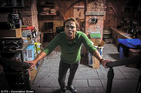 Corrie's David Platt is incarcerated in the cellar