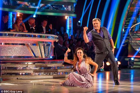 Strictly's Ed Balls shows off his dance moves