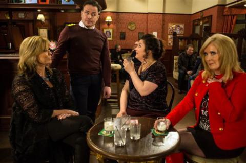 Erica, Mary and Liz in the Rovers Return