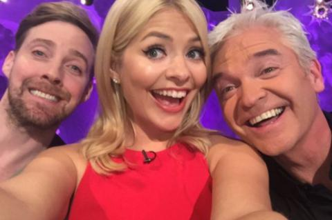 Holly Willoughby's selfie with Philip Schofield and Ricky Wilson