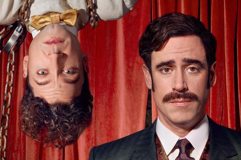 Michael Weston and Stephen Mangan in Houdini and Doyle