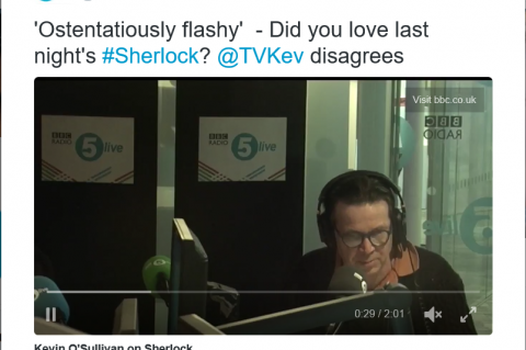 Kevin slams Sherlock on Radio 5 live