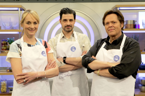 Celebrity MasterChef finalists Louise Minchin, Alexis Conran and Jimmy Osmond