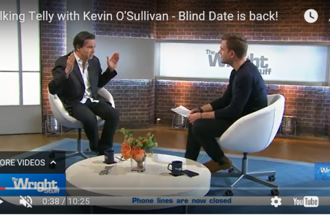 Kevin and Matt talking telly on The Wright Stuff
