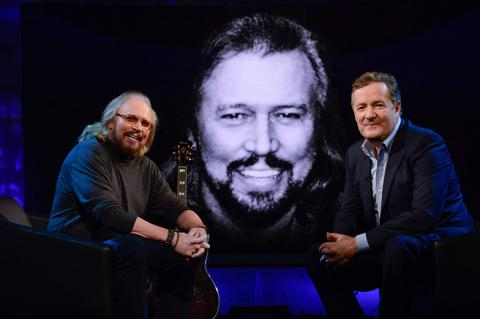 Barry Gibb and Piers Morgan