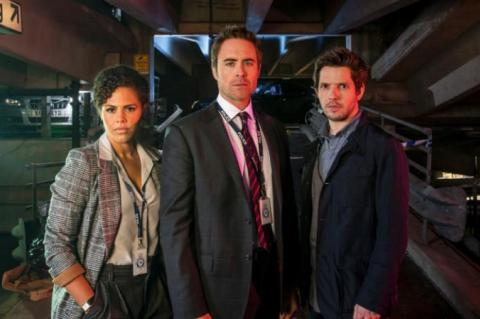 On the case: Clare-Hope Ashitey, James Murray and Damien Molony