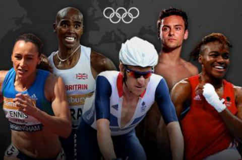 Jessica Ennis-Hill, Mo Farah, Sir Bradley Wiggins, Tom Daley, Team GB