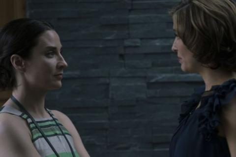 Morven Christie (left) starred in the drama as Ellen Rooney, who goes on maternity leave and becomes increasingly paranoid about the motives of Paula Reece (played by Vicky McClure), who covers for her