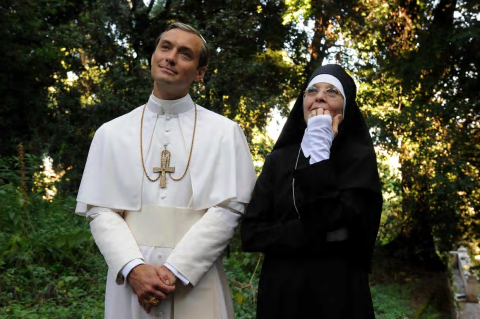 The Young Pope: Jude Law and Diane Keaton