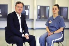 Piers Morgan and Amanda Lewis