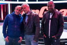 Top Gear presenters Rory Reid, Chris Harris and Matt LeBlanc